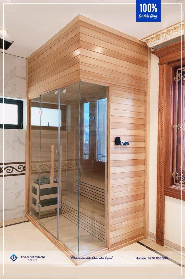 Phòng xông hơi gỗ Hemlock